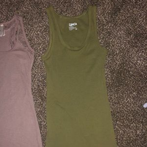 Pink & Green tank tops